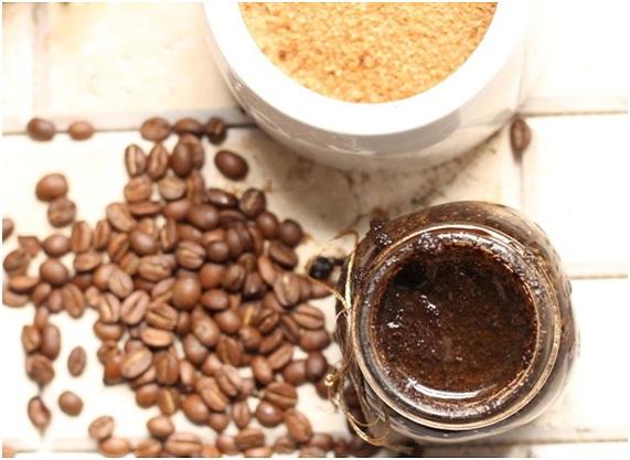 mascarilla de cafe, azucar y bicarbonato